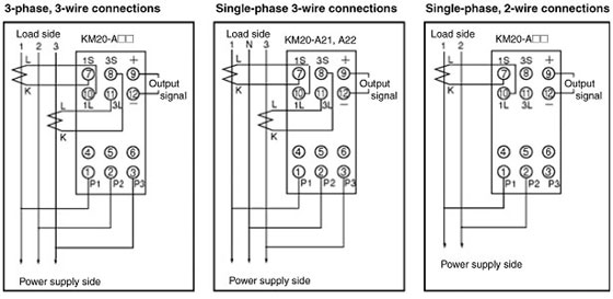 Wiring Diagram Current Transformer : Km power sensor wiring method and current transformer