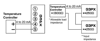 Wiring Between Temperature Controller And G3px Power