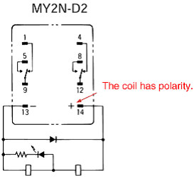 faq02772_1 general purpose relay polarity of coil voltage faq singapore omron my2n relay wiring diagram at soozxer.org