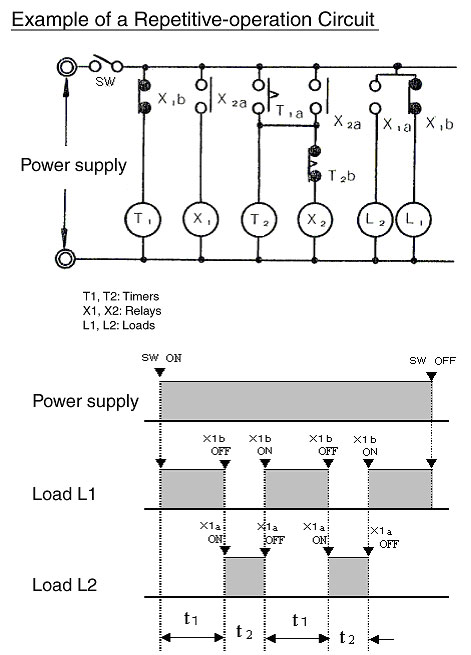 repetitive operation circuit using two timers